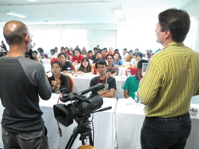 In Indonesia I was commissioned by the Ministry of Education to provide three, 4-day trainings for people with some background in filmmaking.