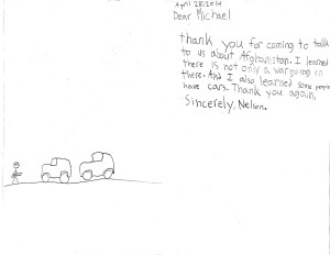 Nelson Thank You Card