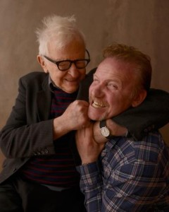 Albert Maysles with Morgan Spurlock at Sundance. Photo by Larry Busacca/Getty Images