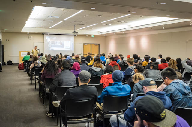 100+ students and faculty for CSFilm presentation at Highline College, Seattle WA
