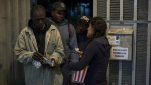 Haitians at Tijuana border