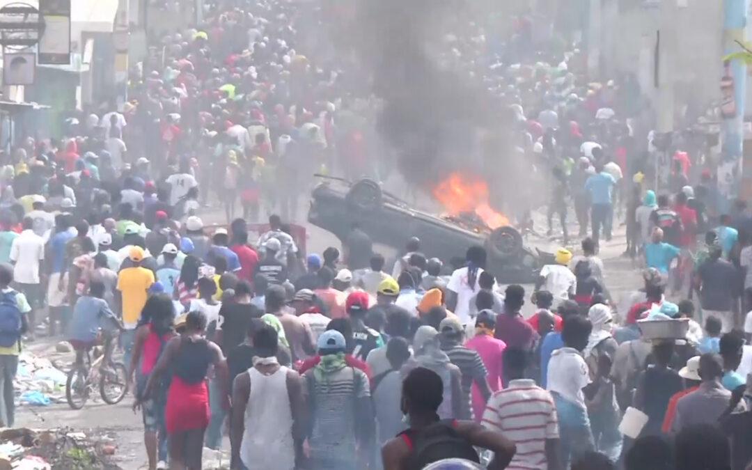 ON THE MEDIA   Journalist and CSFilm trainee/filmmaker Robenson Sason shot covering anti-government protest in Haiti