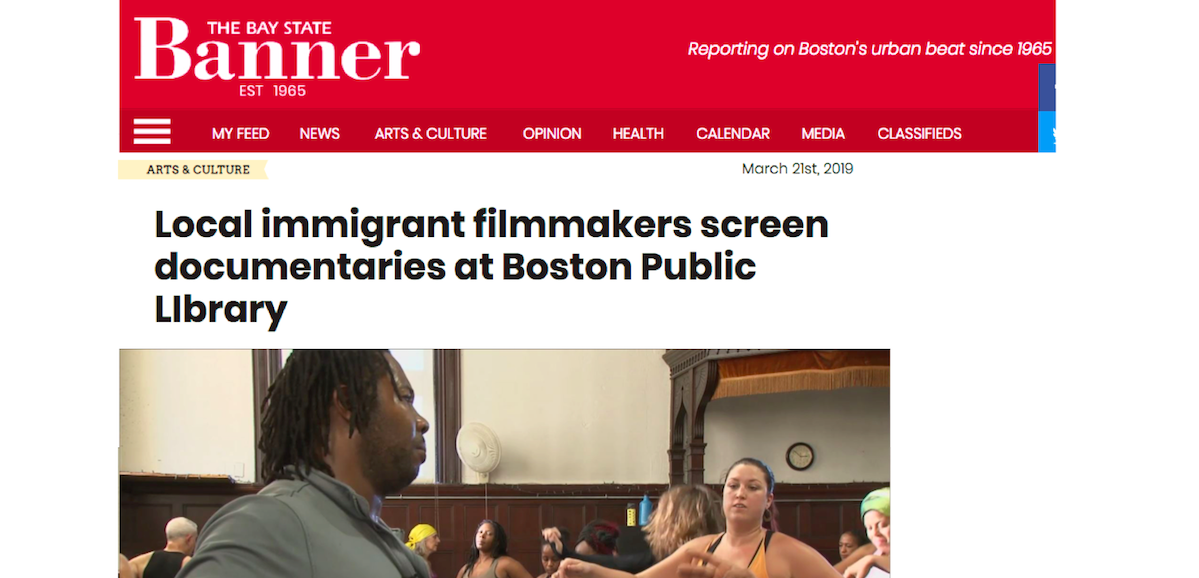 NIRV Films featured in the Bay State Banner!