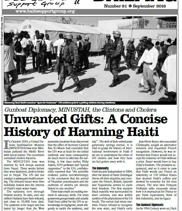 HAITI: New Haiti Briefing Unwanted Gifts: A Concise History of Harming Haiti